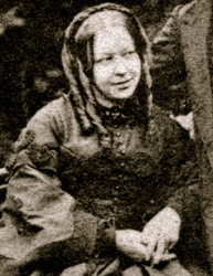 Susannah Spurgeon posed with the Cabbalistic inverted V Sign